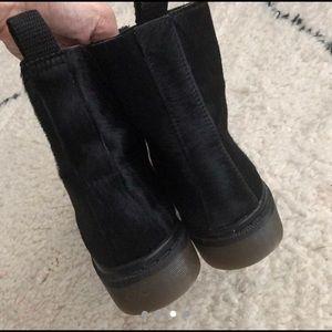 Topshop Shoes - Top shop black calf hair combat moto boots